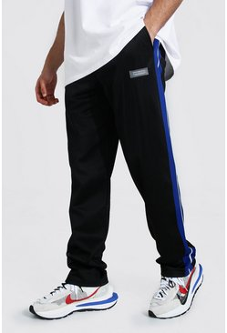 Blue Loose Official Man Tricot Joggers With Tape