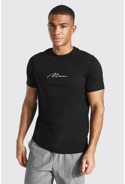 Black Slim Fit Original Man Crew Neck T-shirt