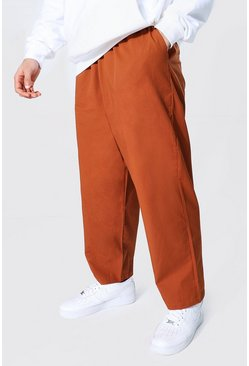 Relaxed Fit Chino-Hosen, Lohbraun