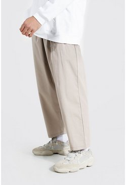 Relaxed Fit Chino-Hosen, Braun