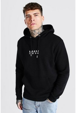 Black Slim Fit Original Man Over The Head Hoodie