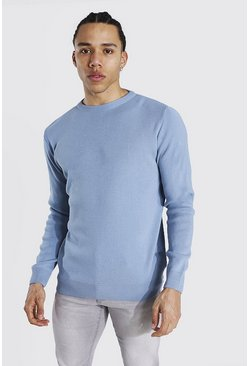 Dusty blue Tall Basic Crew Neck Sweater