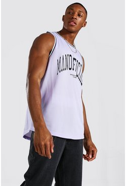 Pale lilac Man Official Airtex Basketball Vest