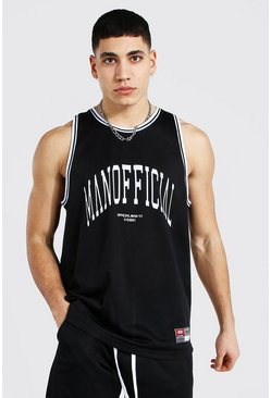 Black Man Official Airtex Basketball Vest