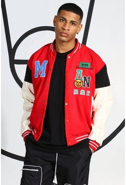 Red Badge Varsity Bomber