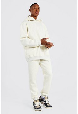 Stone Oversized Man Embroidered Overdyed Tracksuit
