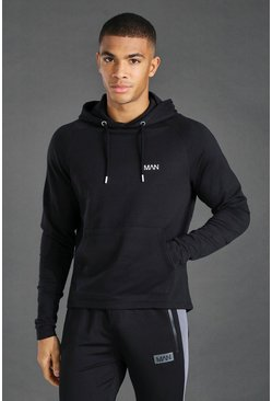 Black Man Active Embroidered Hoodie
