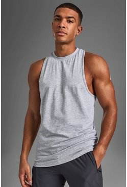 Grey Active Gym Racer Tank
