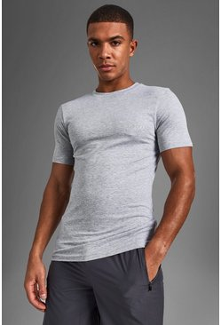 Short Sleeve Active Gym T-shirt, Grey