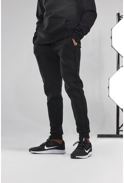 Black Man Active Skinny Jogger With Raw Edge