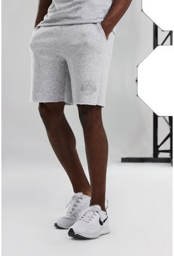 White Man Active Loose Fit Short With Raw Edge
