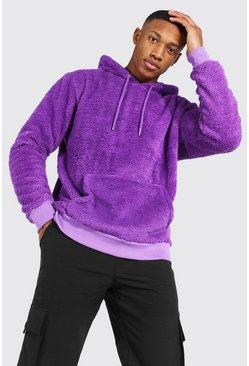 Purple Borg Over The Head Hoodie