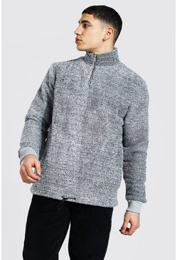 Charcoal Borg Funnel Neck Sweatshirt