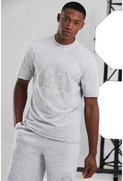 White Man Active Oversized Raw Edge Logo T-shirt