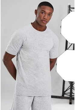 White Man Active Gym T-shirt With Raw Edge