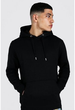 Black Regular Fit Recycled Hoodie