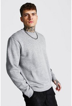 Recycled Regular Fit Sweatshirt, Grey marl