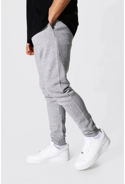 Recycled Skinny Fit Jogger, Grey marl
