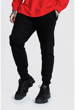 Recycled Slim Fit Jogger, Black