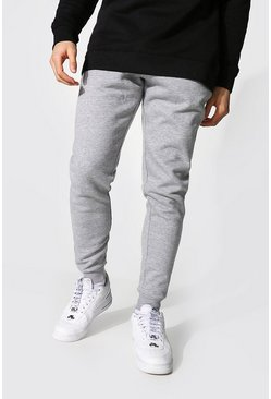 Recycled Slim Fit Jogger, Grey marl