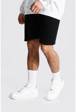 Recycled Regular Fit Jersey Shorts, Black