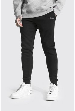 Recycled Man Signature Skinny Fit Jogger, Black