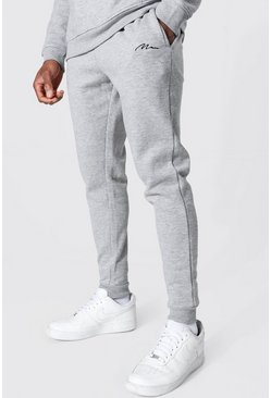 Grey marl Recycled Man Signature Skinny Fit Jogger