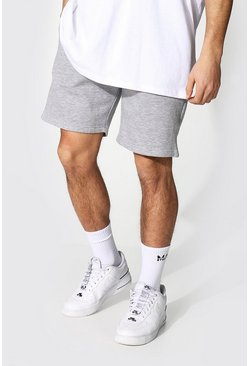 Recycled Regular Fit Jersey Shorts, Grey marl