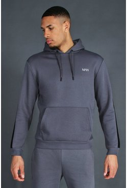 Charcoal Tall Man Active Oth Side Stripe Hoodie