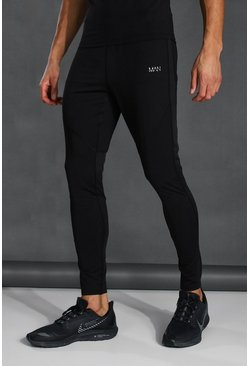 Tall Man Active Skinny Fit Jogger With Zips, Black