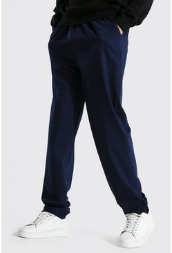 Navy Tall Straight Leg Woven Joggers