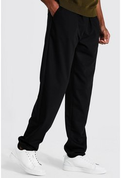 Black Tall Straight Leg Woven Joggers