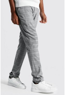 Tall - Pantalon droit à carreaux, Grey