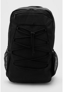 Rucksack With Lace Up Detail, Black