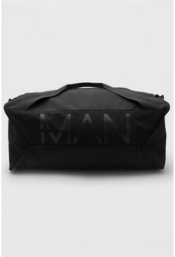 Man Branded Large Holdall, Black