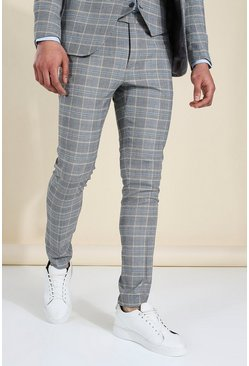 Skinny Grey Check Suit