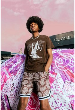 Chocolate Loose Dove Graphic T-shirt