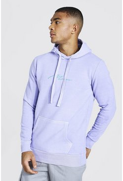 Lilac Man Signature Embroidered Washed Hoodie