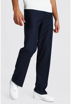 Tall Straight Leg Trouser, Navy