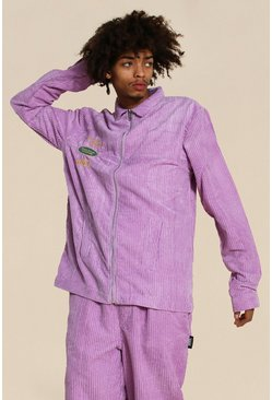 Purple Oversized Official Cord Shacket