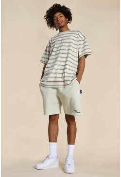 Stone Official Oversized Yarn Dyed Stripe T-shirt