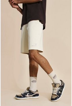 Stone Oversized Official Waistband Jersey Shorts