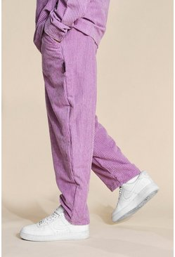 Purple Relaxed Cord Skate Trousers