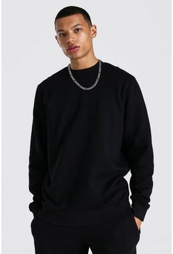 Tall Recycled Regular Fit Sweater, Black