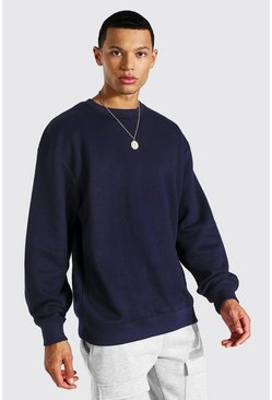Navy Tall Recycled Regular Fit Sweater