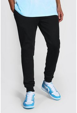 Tall Recycled Skinny Fit Jogger, Black