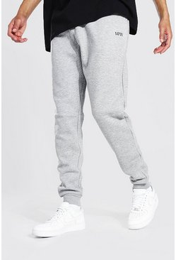Tall Recycled MAN Dash Skinny Fit Jogger, Grey marl