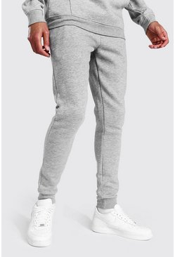 Tall Recycled Skinny Fit Jogger, Grey marl