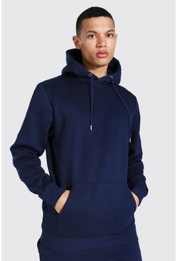 Navy Tall Regular Fit Recycled Hoodie