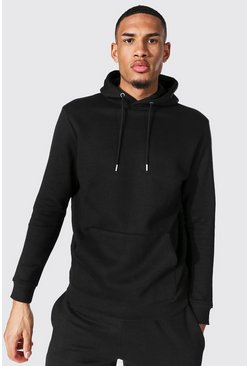 Tall Recycled Regular Fit Hoodie, Black